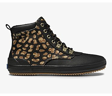 Cyber Scout Boot II Water-Resistant Canvas w/ Thinsulate™, Leopard, dynamic