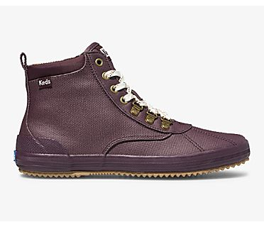 Scout Boot II Water-Resistant Canvas, Burgundy, dynamic