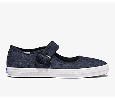 Champion Mary Jane Eco Denim, Indigo, dynamic
