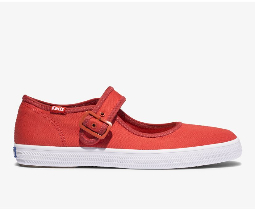 Champion Mary Jane Feat. Organic Cotton, Aura Red, dynamic