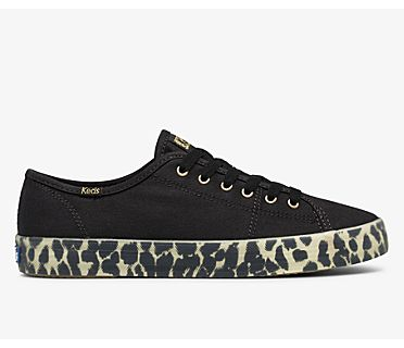 Kickstart Canvas Leopard Foxing, Black, dynamic