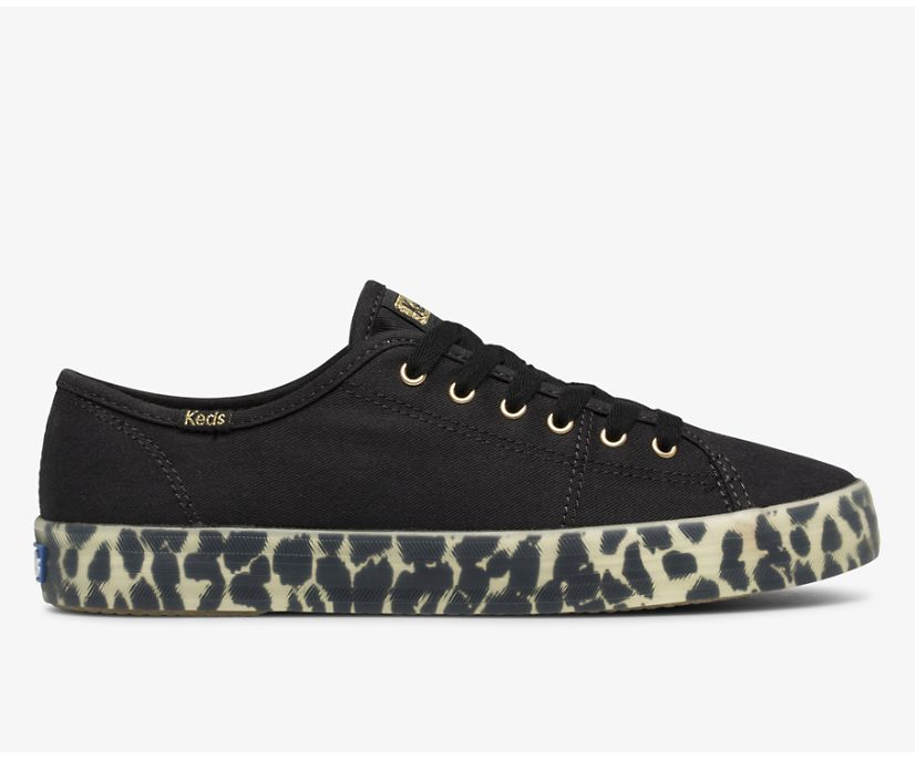Kickstart Canvas Leopard Foxing, Black, dynamic