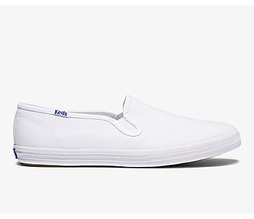 Champion Slip On Organic Cotton Canvas, White, dynamic