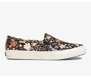 Keds x Rifle Paper Co. Double Decker Strawberry Fields, Black Multi, dynamic