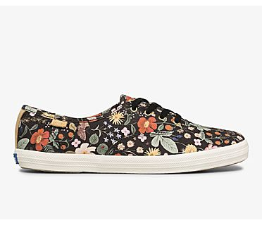 Keds x Rifle Paper Co. Champion Strawberry Fields, Black Multi, dynamic
