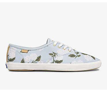 Keds x Rifle Paper Co. Vintage Champion Orangerie, Blue Multi, dynamic