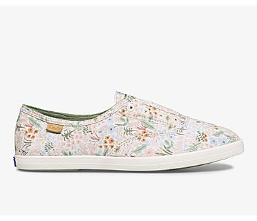 Keds x Rifle Paper Co. Washable Chillax Meadow, Cream Multi, dynamic