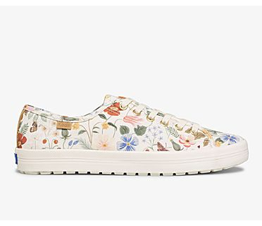Keds x Rifle Paper Co. Kickstart TRX Strawberry Fields, White Multi, dynamic
