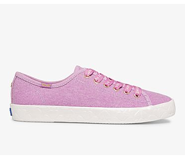 Keds x kate spade new york Kickstart Logo Foxing, Mauve, dynamic