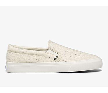 Jump Kick Slip Speckle Knit, Cream, dynamic