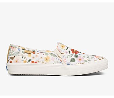Keds x Rifle Paper Co. Double Decker Strawberry Fields, White Multi, dynamic