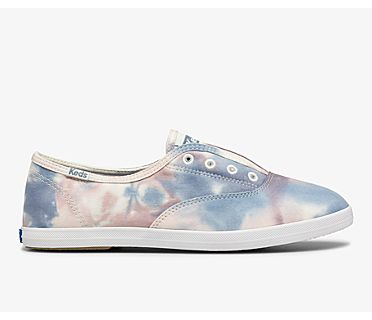 Chillax Washable Feat. Tie Dye Organic Cotton, Pink Blue Multi, dynamic