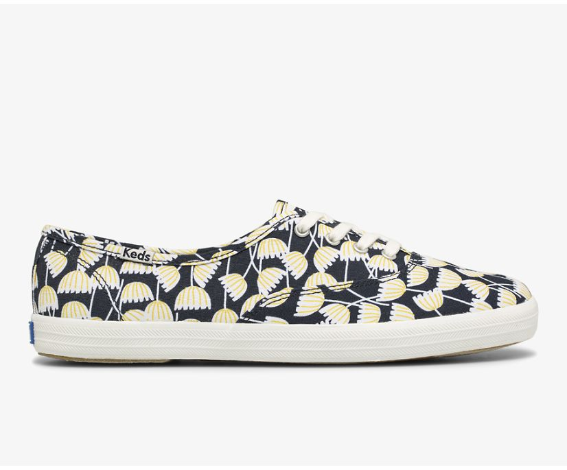 Washable Champion Feat. Organic Cotton Floral, Navy Multi, dynamic