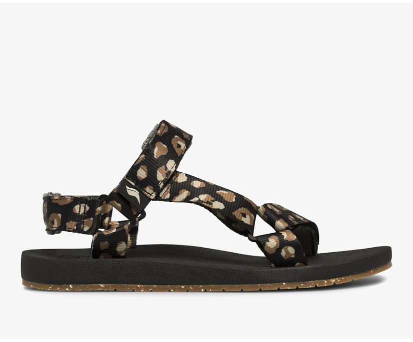 Trio Eco Sandal with Tencel™, Leopard, dynamic