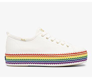 Triple Up Rainbow Jute Feat. Organic Cotton, White Multi, dynamic