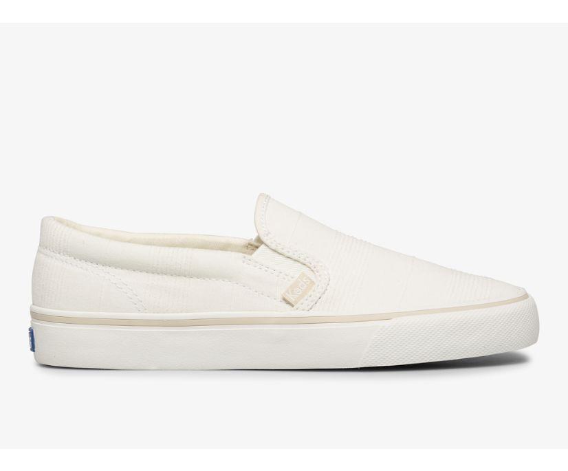 Jump Kick Slip Stripe Chambray, Cream, dynamic