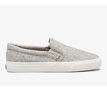 Jump Kick Slip Speckle Knit, Grey, dynamic
