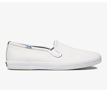 Champion Slip On Leather, White, dynamic