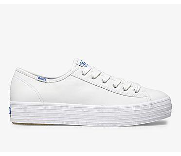 Triple Kick Leather, White, dynamic