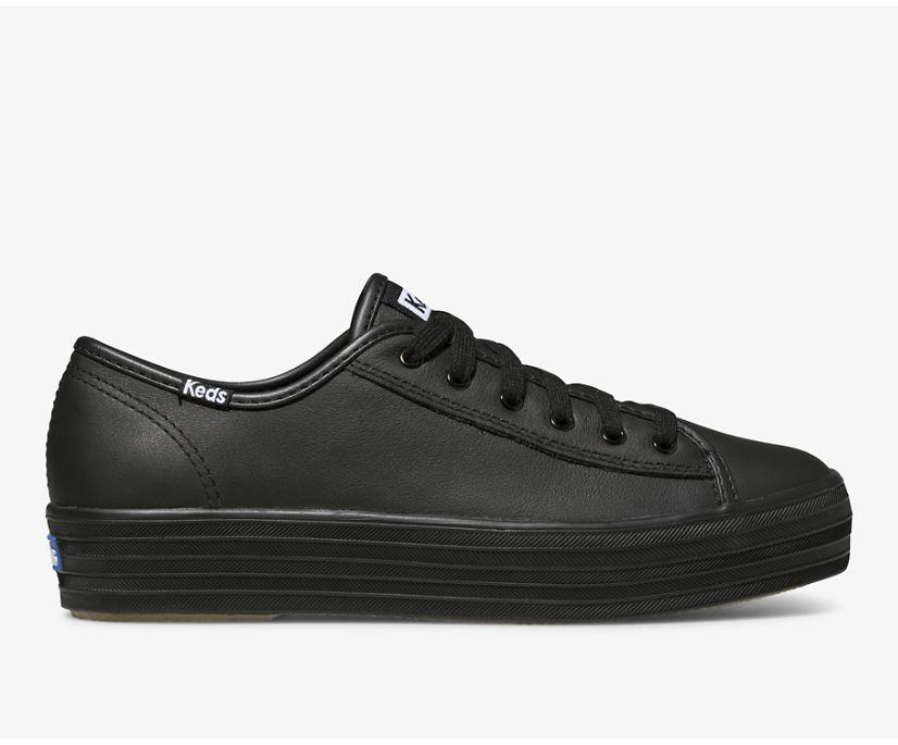 Triple Kick Leather, Black Black, dynamic