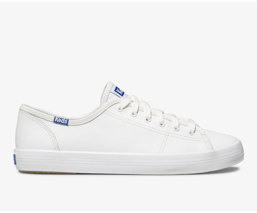 Kickstart Leather, White/Blue, dynamic