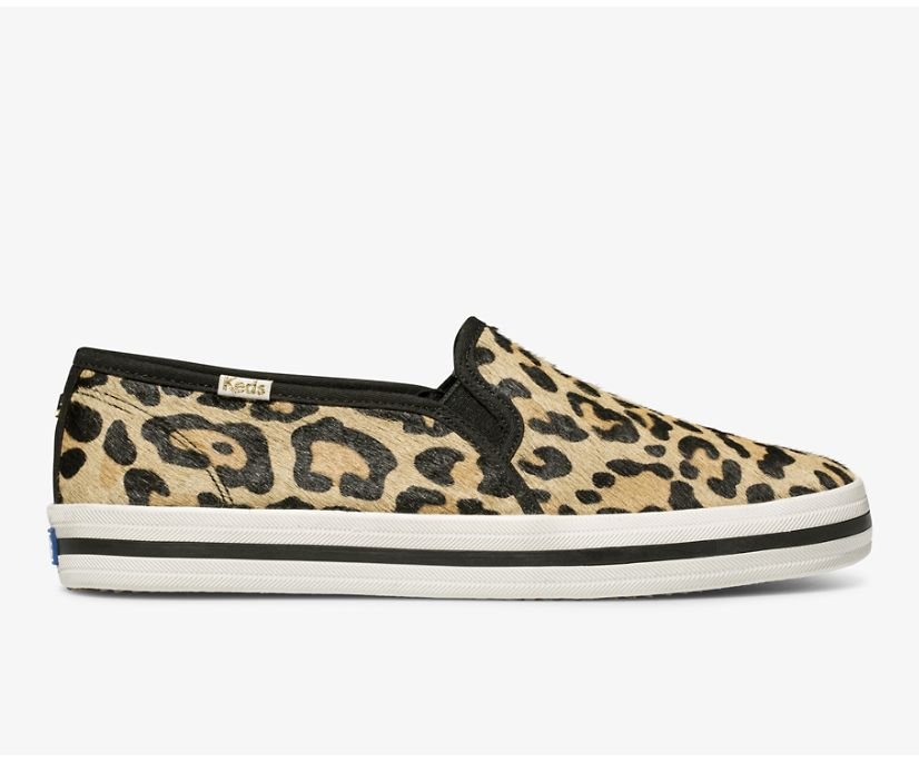 Keds x kate spade new york Calf Hair Slip On, Leopard, dynamic