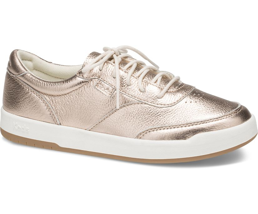 Match Point Metallic Leather, Rose Gold, dynamic