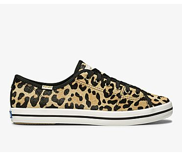 Keds x kate spade new york Kickstart Calf Hair, Leopard Tan, dynamic