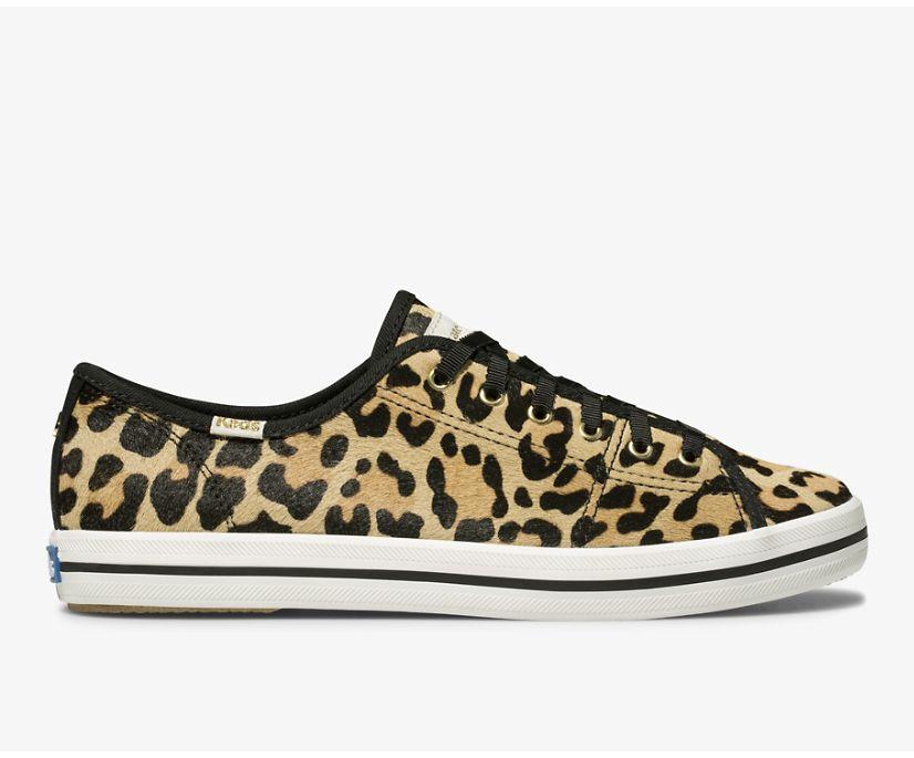 Keds x kate spade new york Kickstart Calf Hair, Leopard Tan, dynamic