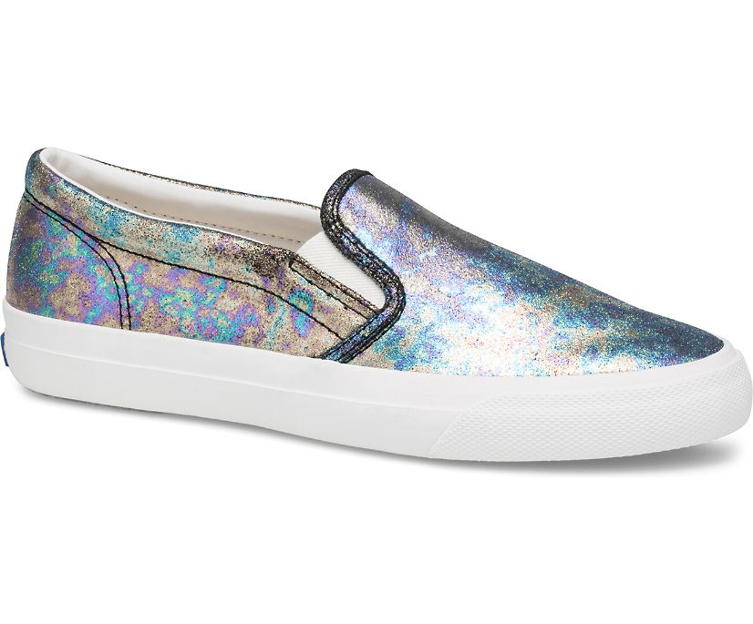 Anchor Slip On Oil Slick Leather, Navy Multi, dynamic