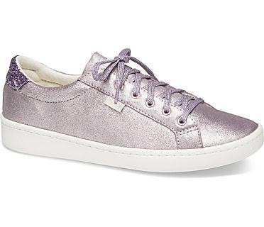 Keds x kate spade new york Ace Glitter Metallic Leather, Light Purple, dynamic