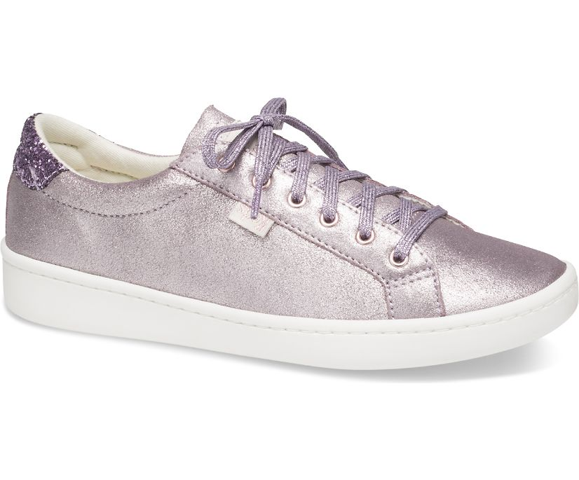 Keds x kate spade new york Ace Glitter Metallic Leather, Light Purple, dynamic