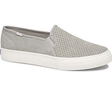 Double Decker Perf Suede, Drizzle Gray, dynamic