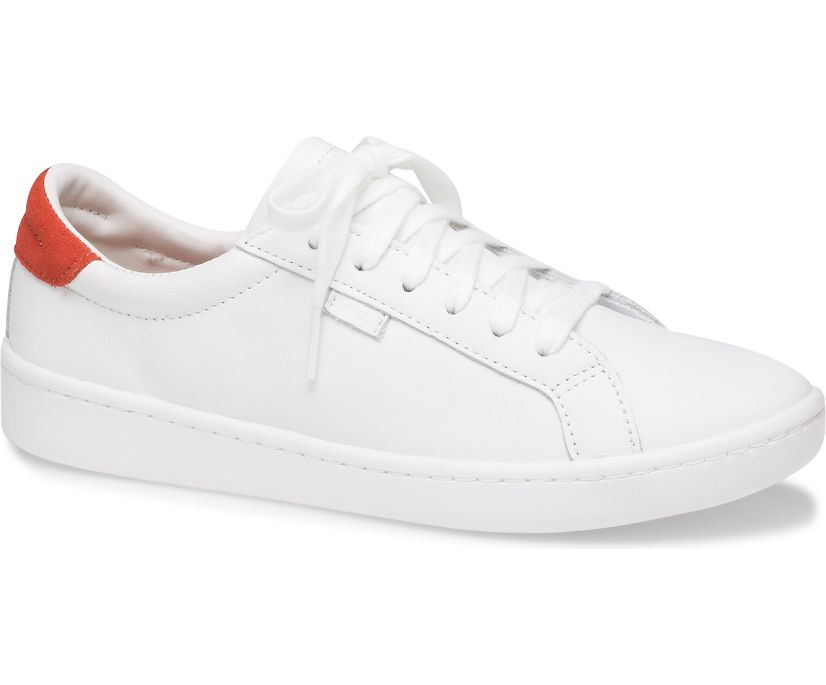 Ace Leather, White Red, dynamic