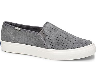 Double Decker Perf Suede, Gray, dynamic
