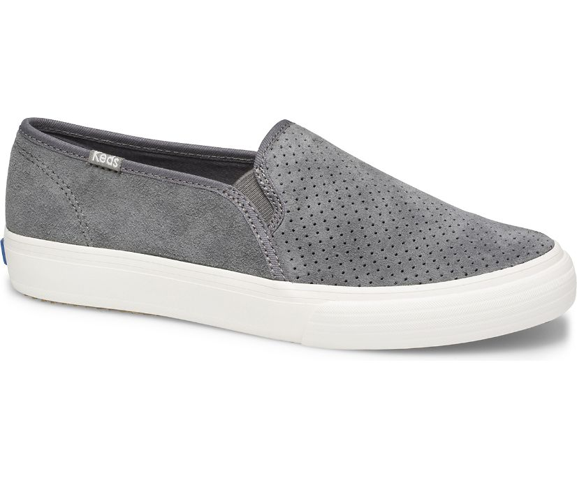 Double Decker Perf Suede Fall, Gray, dynamic