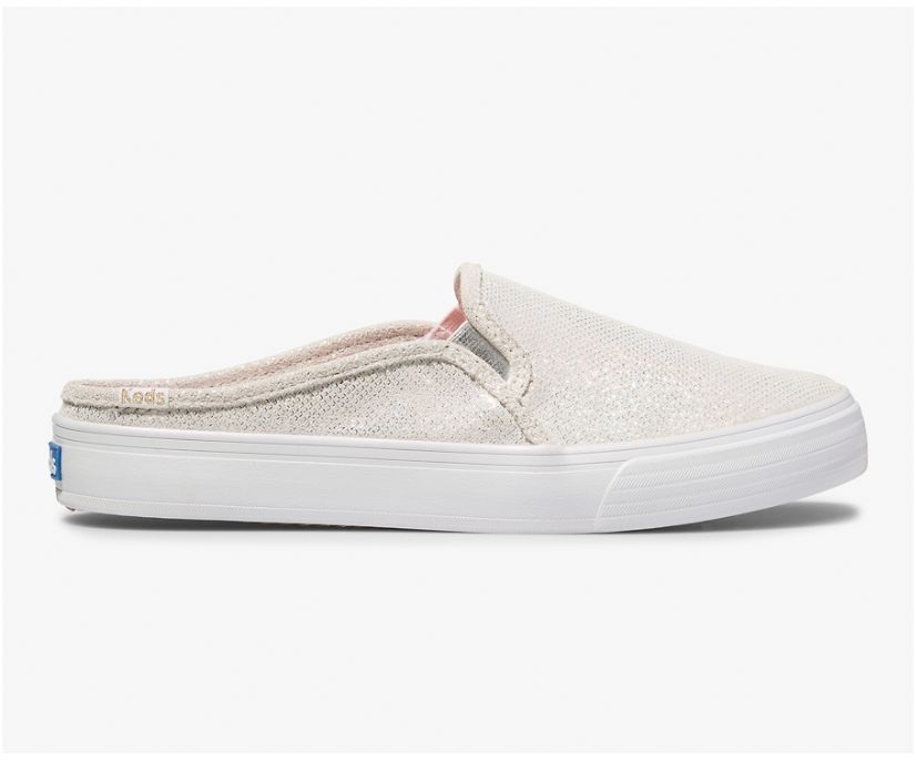 Keds x Oh Joy! Double Decker Mule Leather, Holographic White, dynamic