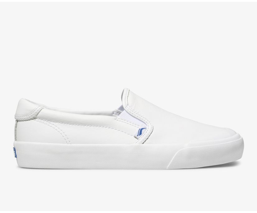 Crew Kick 75 Slip On Leather, White, dynamic