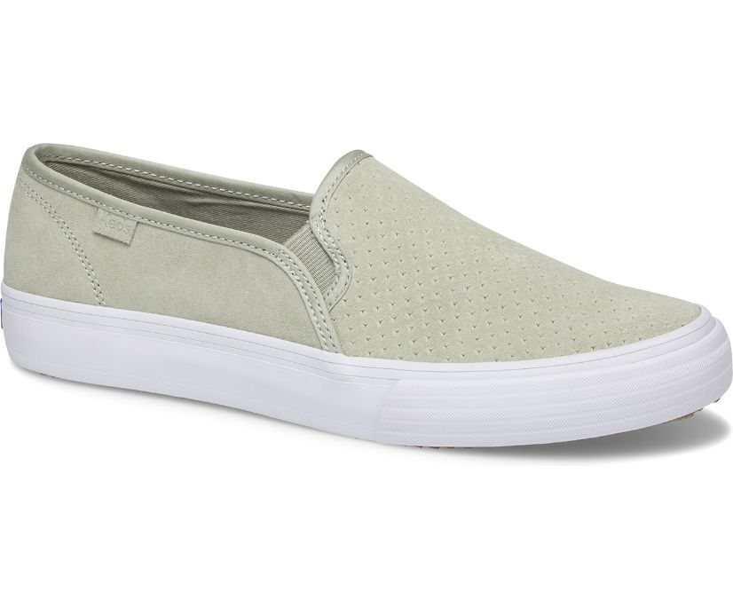 Double Decker Perf Suede, Sage, dynamic