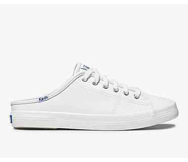 Kickstart Mule Leather, White, dynamic
