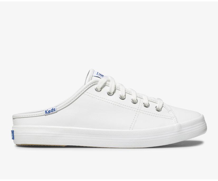 Kickstart Mule Leather, White, dynamic
