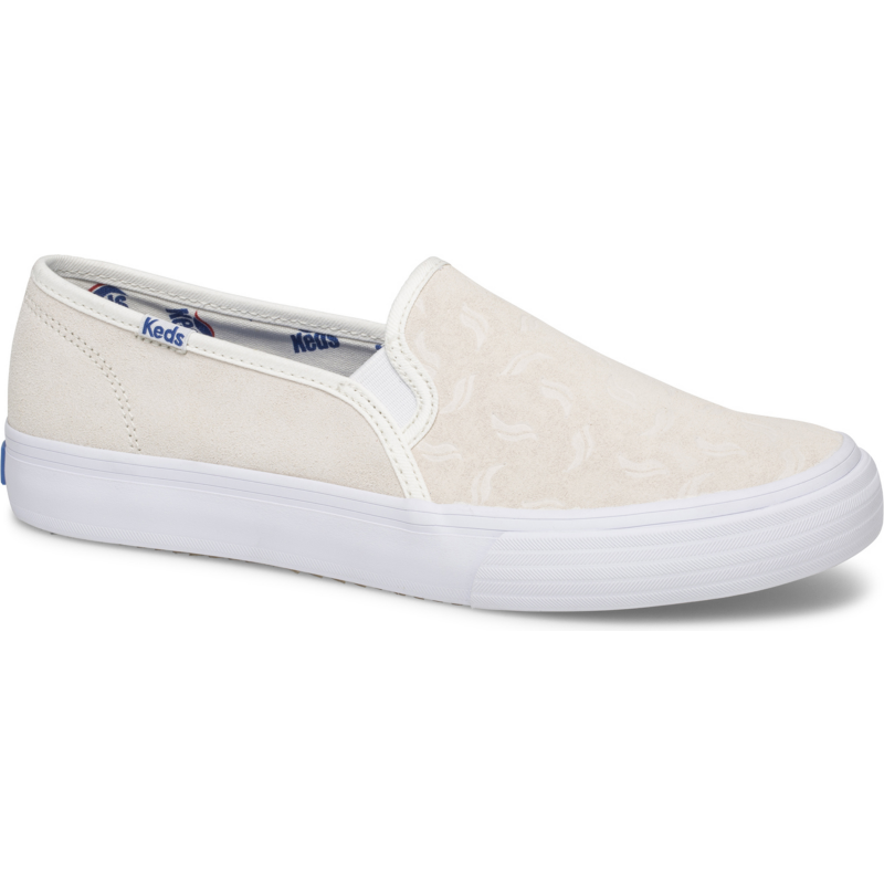 Keds Women's Double Decker Suede Tossed Wave Logo Size: 9M, Cream