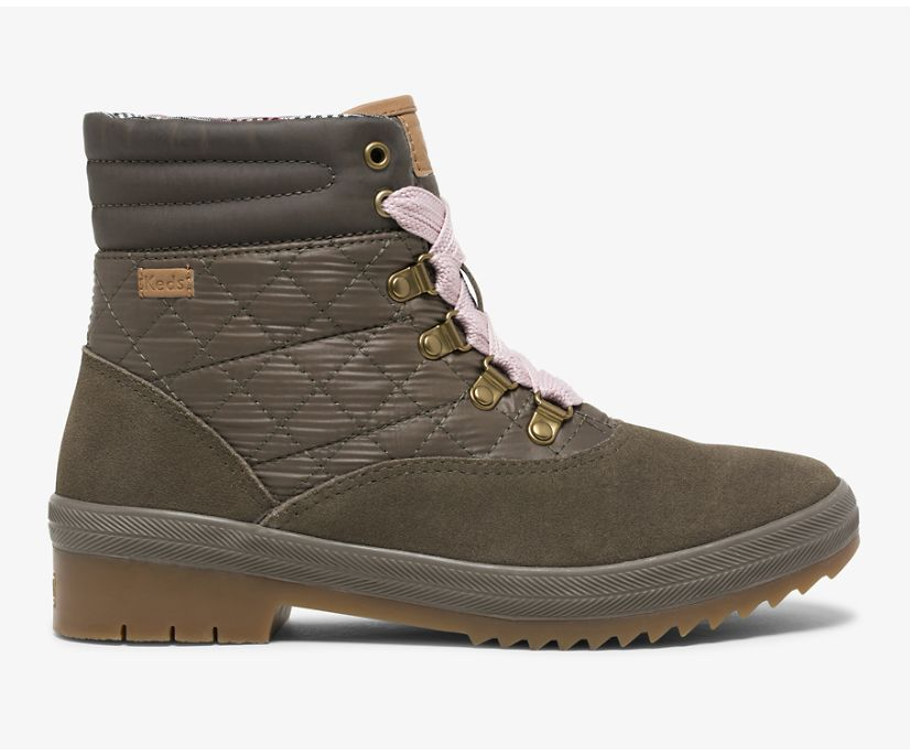 Camp Boot Water-Resistant Suede w/ Thinsulate™, Bungee Cord Olive, dynamic