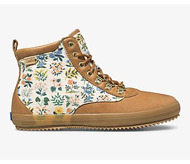 Keds x Rifle Paper Co. Scout Boot Leather Wildflower w/ Thinsulate, Natural, dynamic