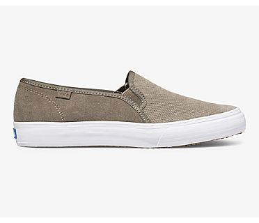 Double Decker Suede Fall, Bungee Cord Olive, dynamic