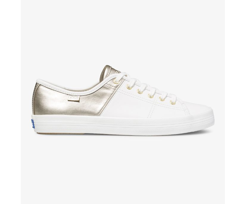 Kickstart 50/50 Leather Metallic, White Champagne, dynamic
