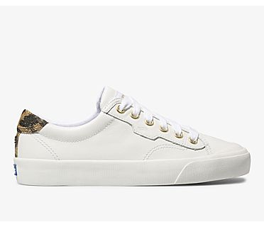 Keds x kate spade new york Crew Kick 75 Leather, White, dynamic