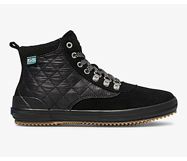 Cyber Scout Boot II Water-Resistant Suede, Black Black, dynamic