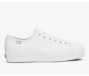Triple Kick Luxe Leather, White, dynamic