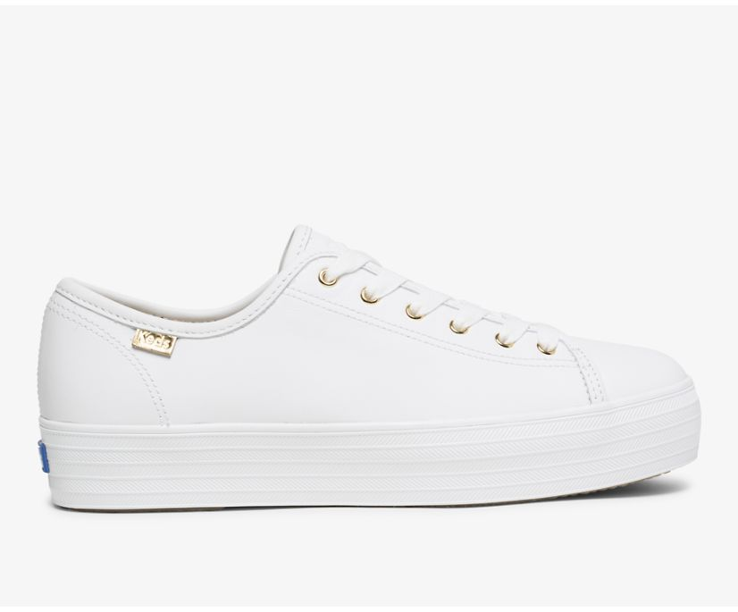 Triple Kick Luxe Leather, White, dynamic